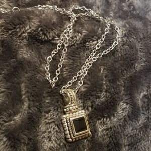 Pendant and chain.